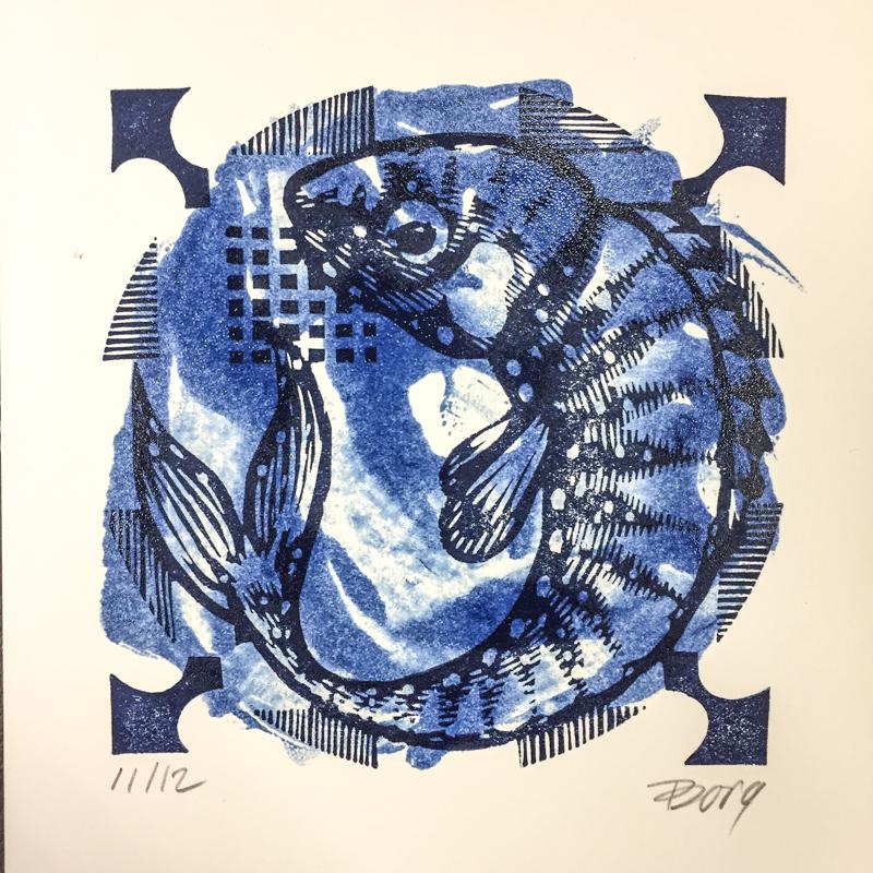 Delftsblauw visje
